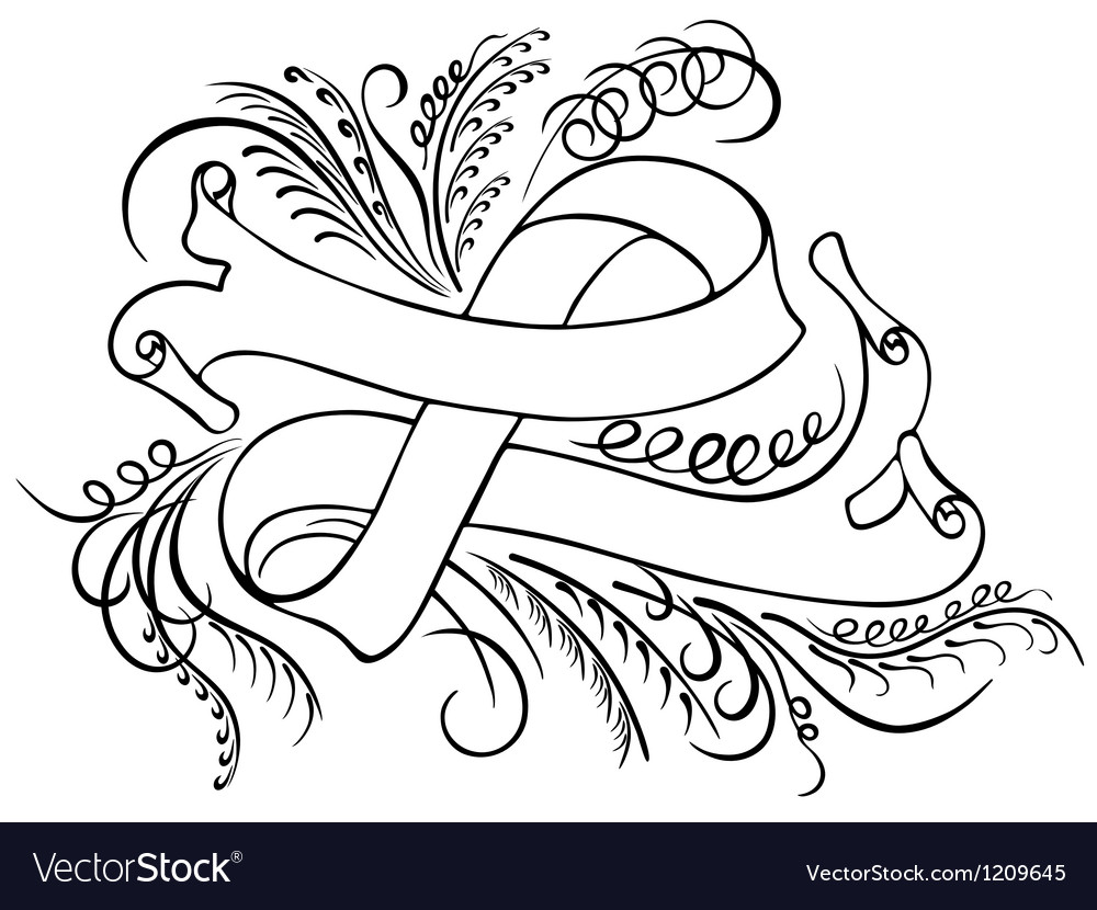 Calligraphy band vector | Price: 1 Credit (USD $1)