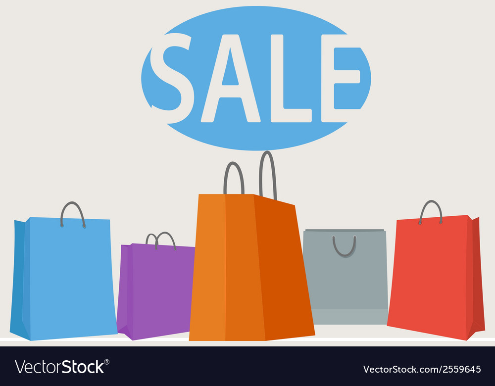 Colorful shopping bags background vector | Price: 1 Credit (USD $1)
