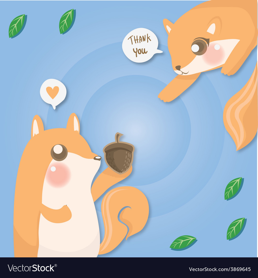 Couple squirrel vector