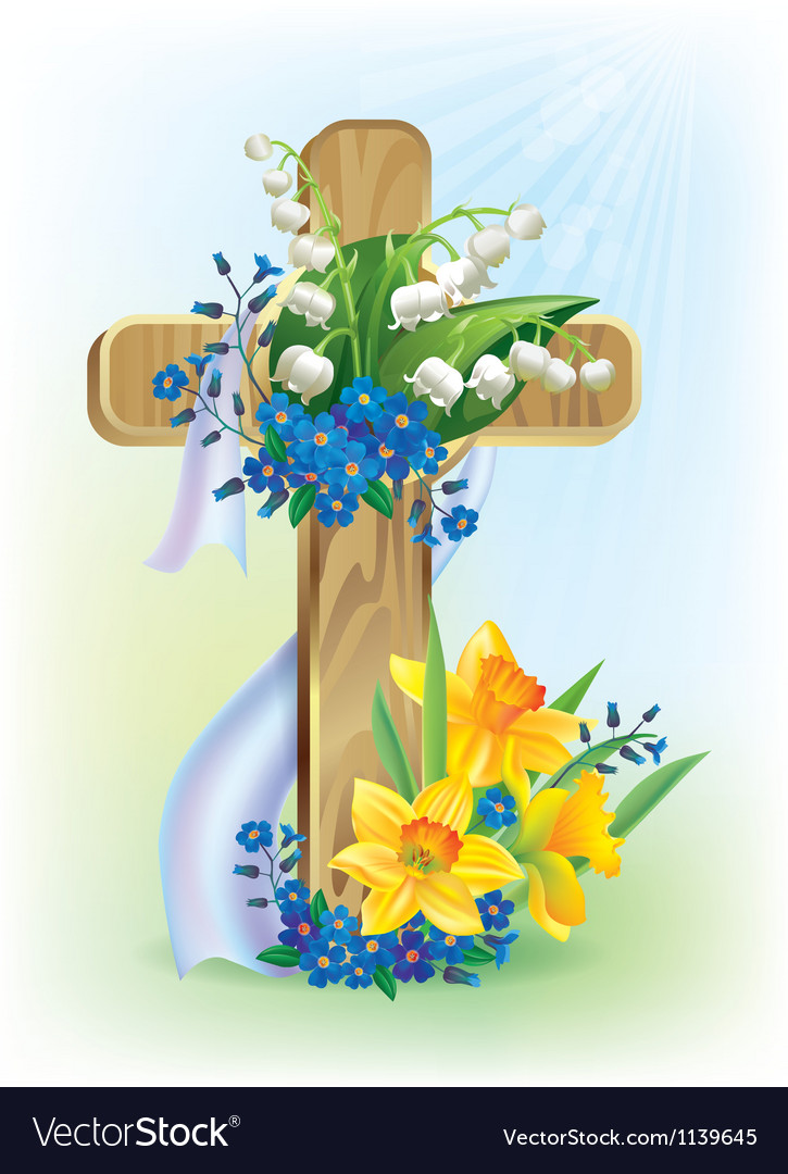 Easter cross vector | Price: 3 Credit (USD $3)