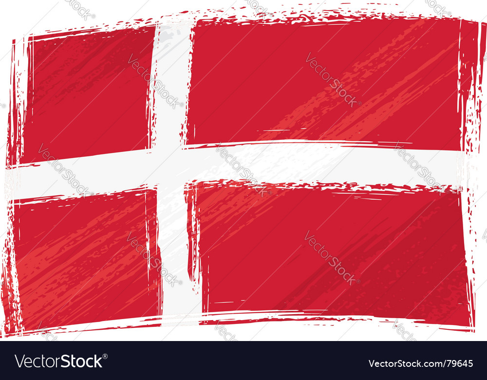 Grunge denmark flag vector | Price: 1 Credit (USD $1)