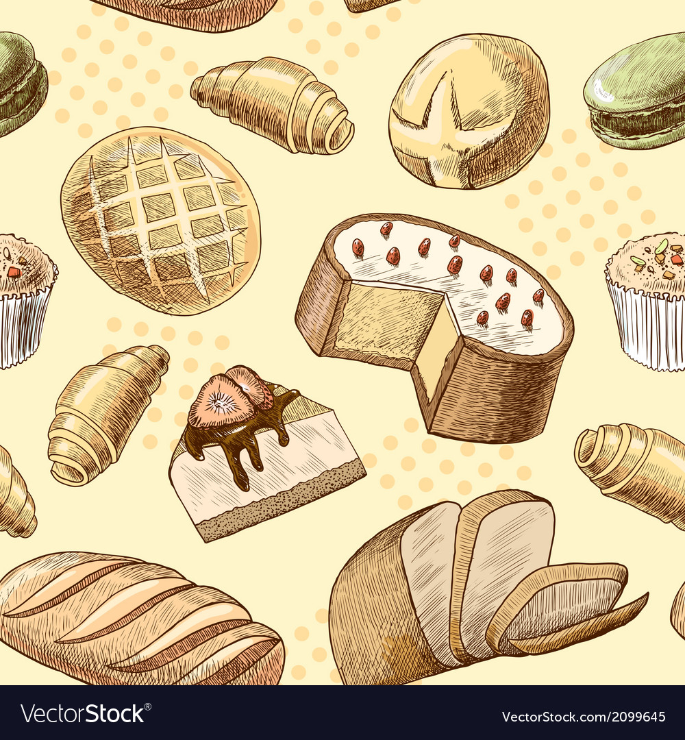 Pastry seamless pattern vector   Price: 1 Credit (USD $1)