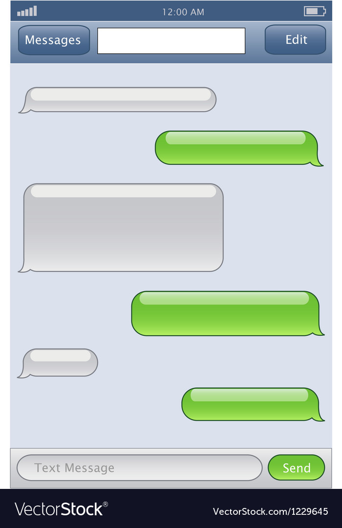 Phone chat template vector | Price: 1 Credit (USD $1)