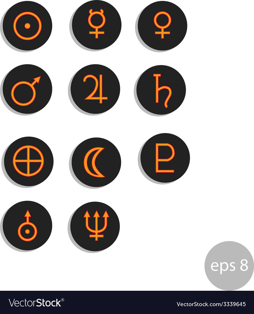 Planets sign vector   Price: 1 Credit (USD $1)