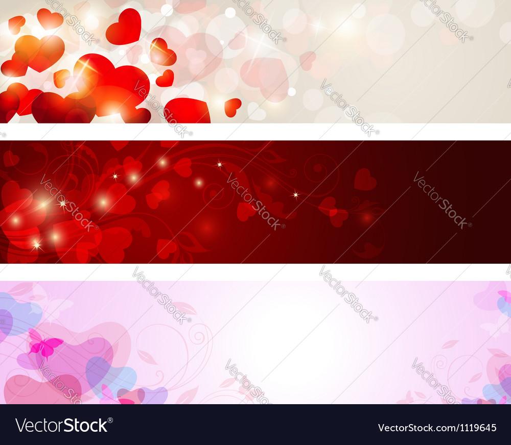 Valentine banners vector | Price: 1 Credit (USD $1)