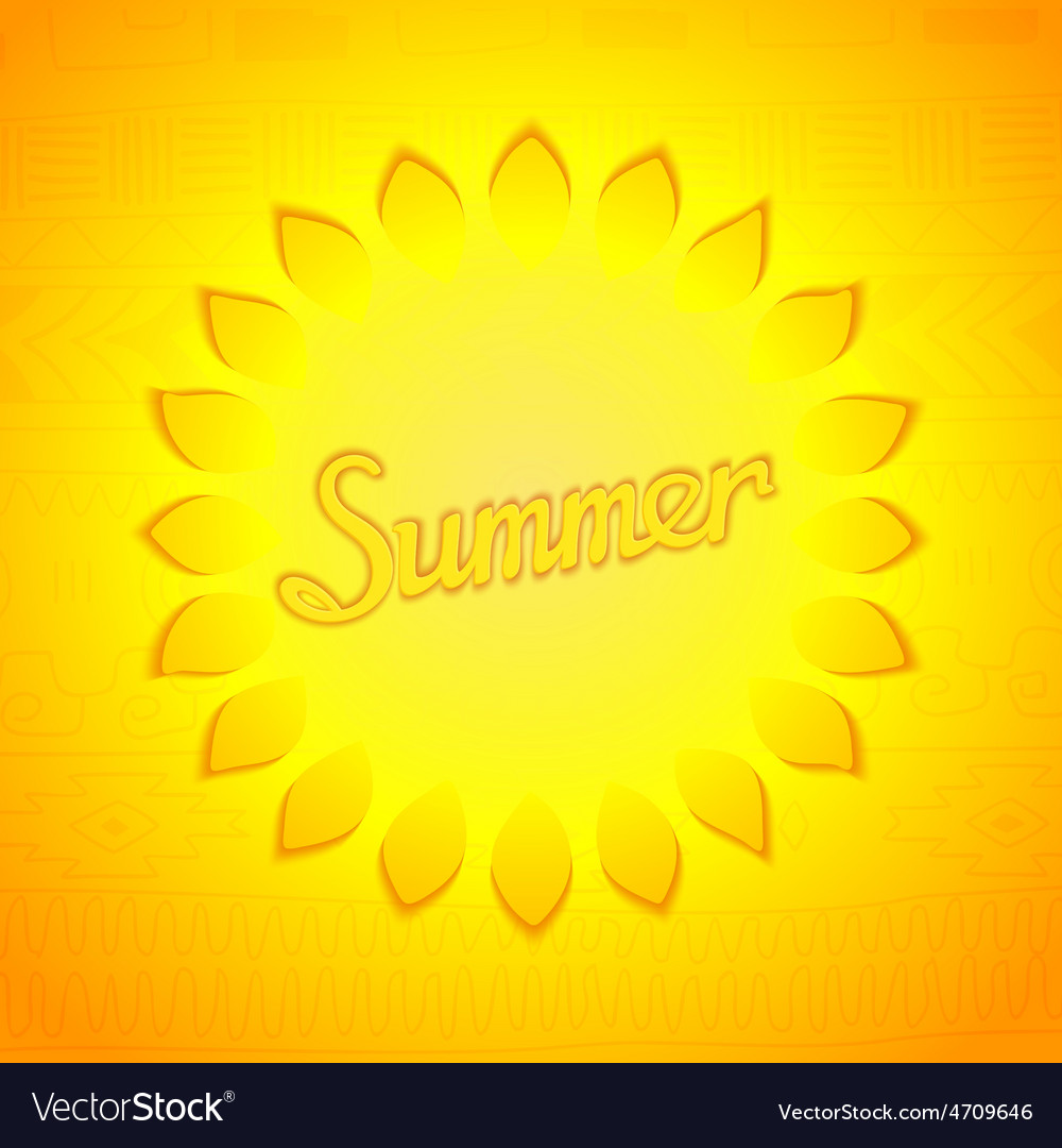 Abstract summer design vector | Price: 1 Credit (USD $1)