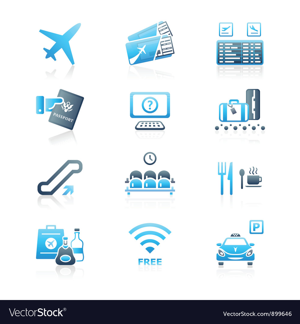 Airport icons - marine series vector | Price: 3 Credit (USD $3)