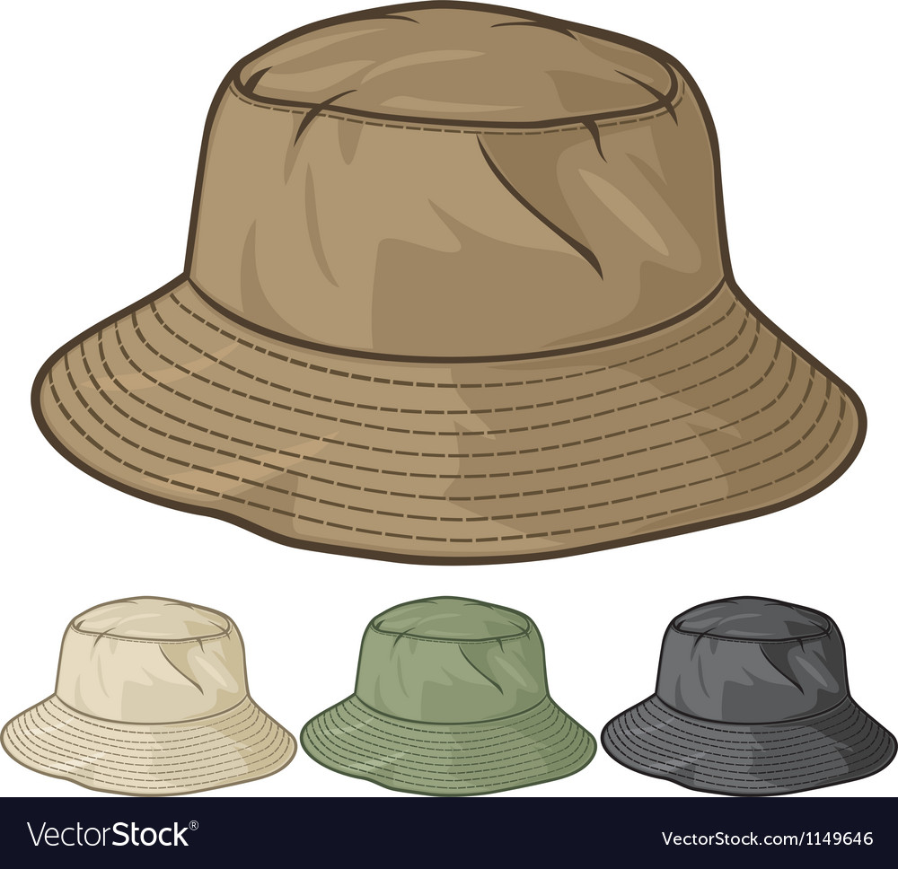 Bucket hat collection vector | Price: 1 Credit (USD $1)