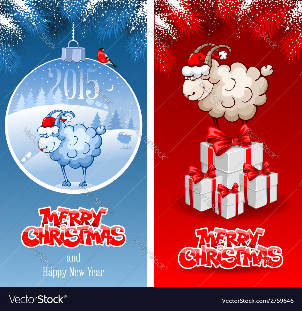 Christmas greeting cards vector