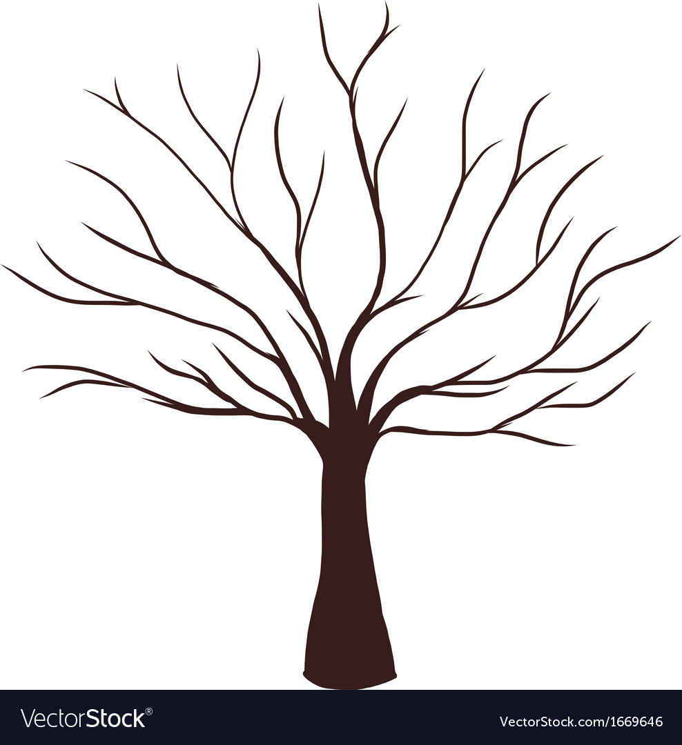 Dead tree without leaves vector | Price: 1 Credit (USD $1)