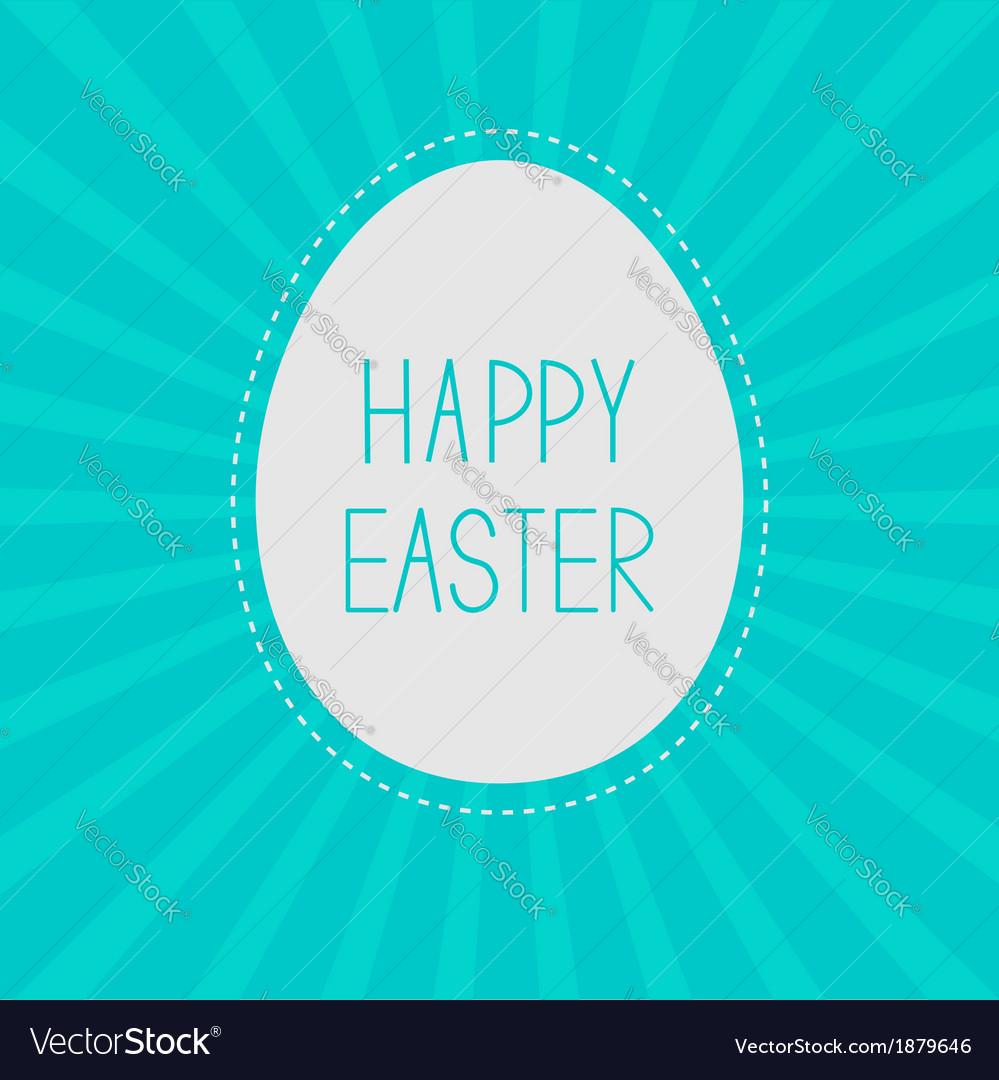 Easter egg sunburst background card vector | Price: 1 Credit (USD $1)