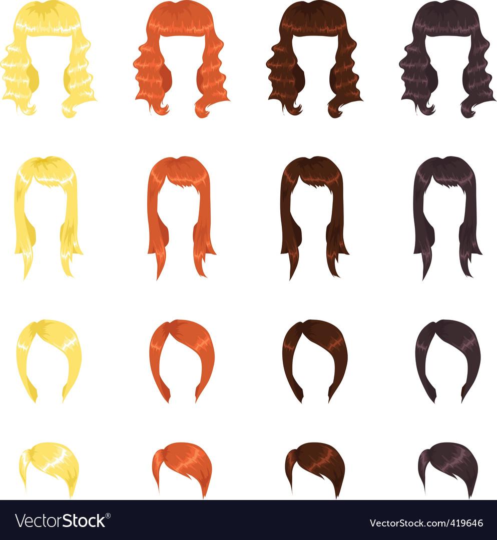 Female hair vector | Price: 1 Credit (USD $1)