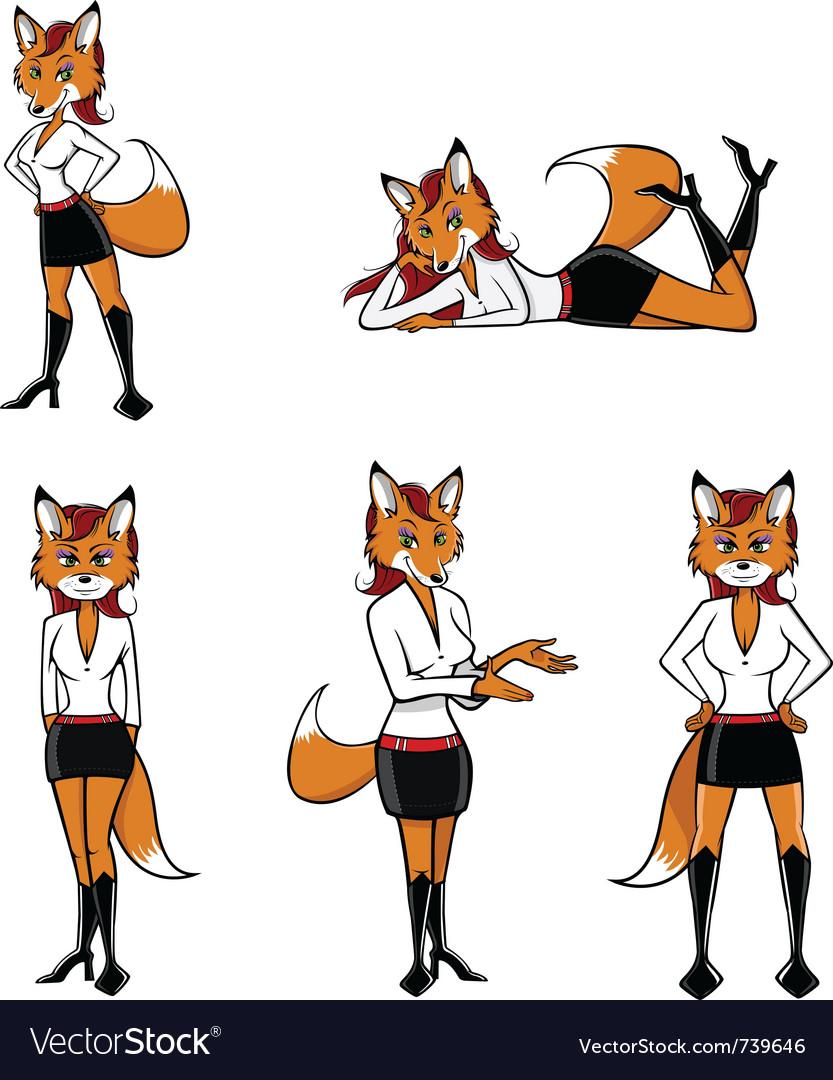 Fox sexy poses vector   Price: 3 Credit (USD $3)