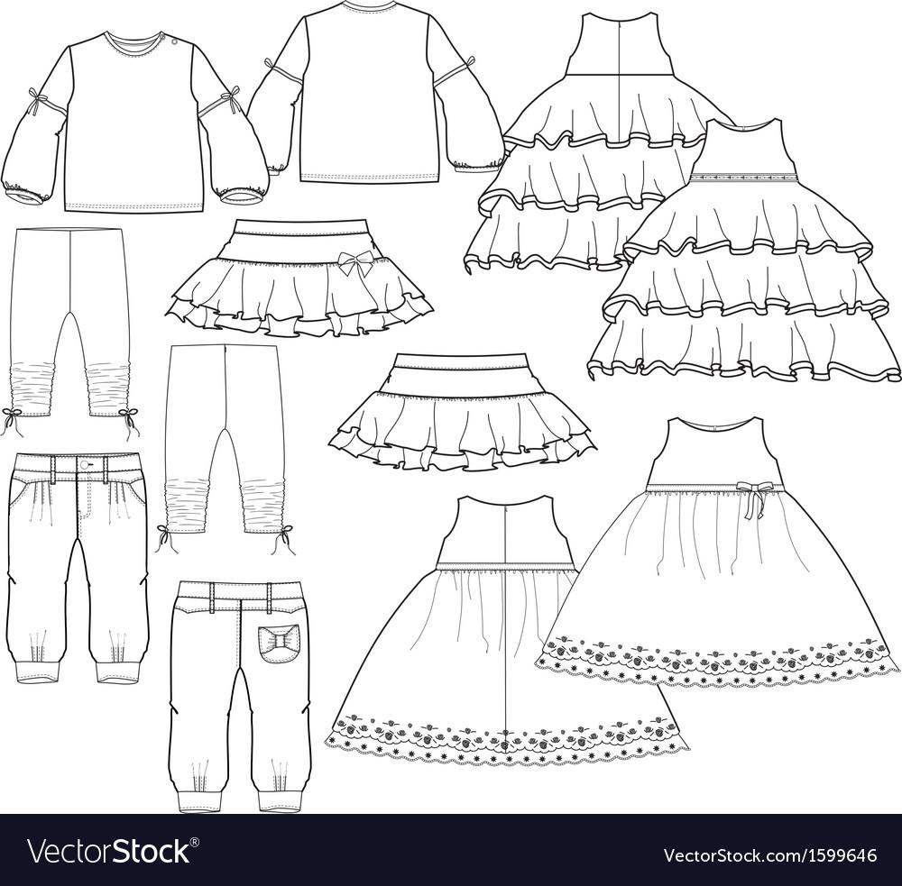 Girls garment vector | Price: 1 Credit (USD $1)