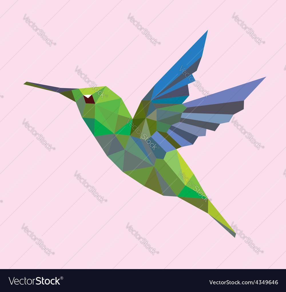 Humming bird low polygon vector | Price: 1 Credit (USD $1)