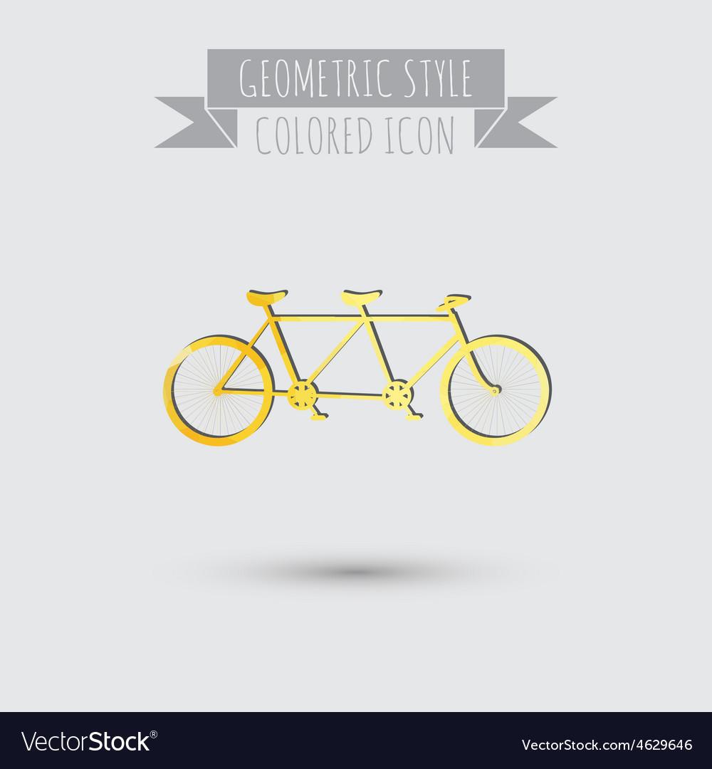 Retro bicycle icon vector   Price: 1 Credit (USD $1)