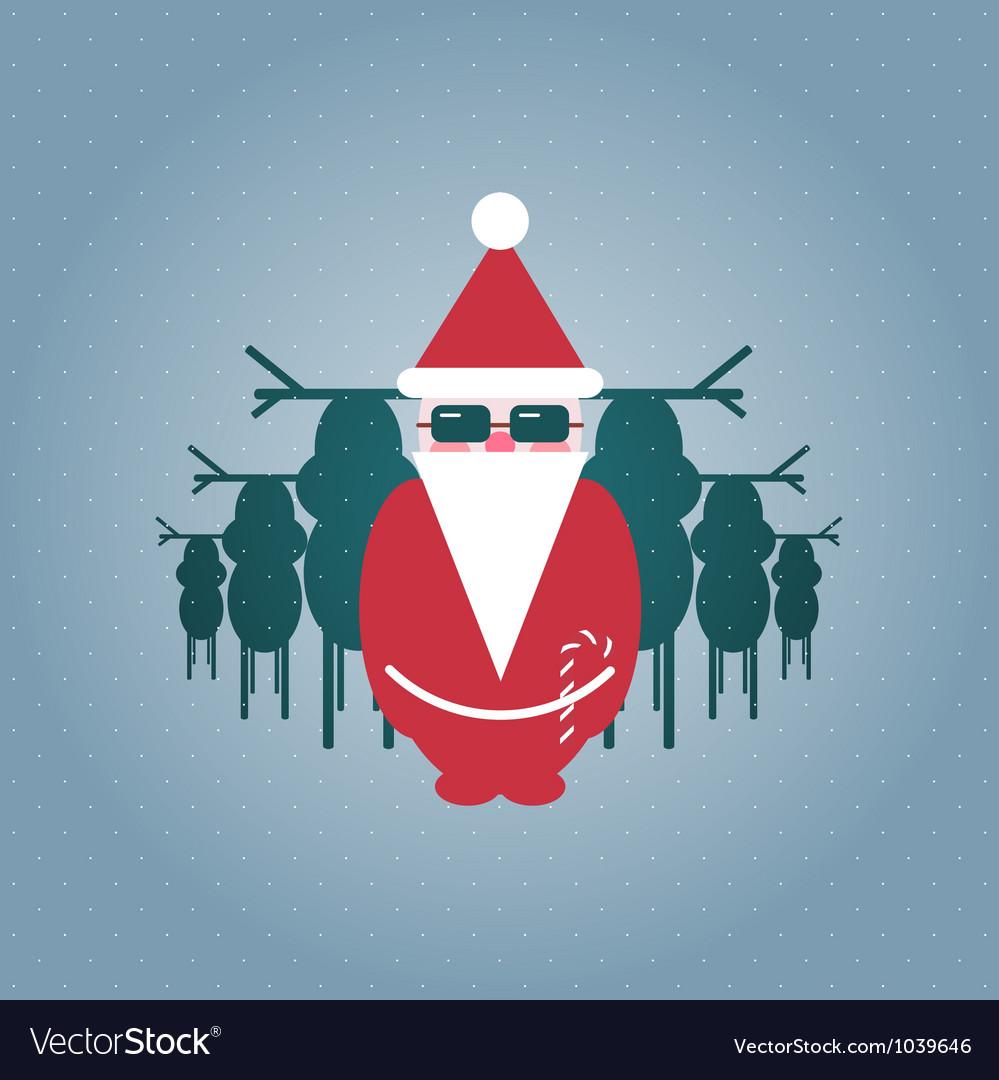 Santa and his reindeer gang vector | Price: 1 Credit (USD $1)