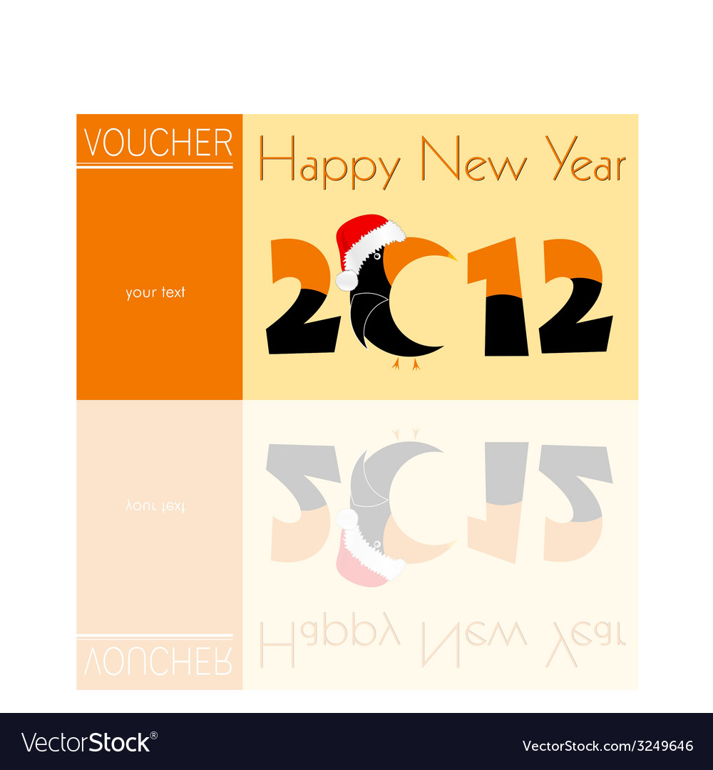 Voucher orange for 2012 with parrot vector | Price: 1 Credit (USD $1)