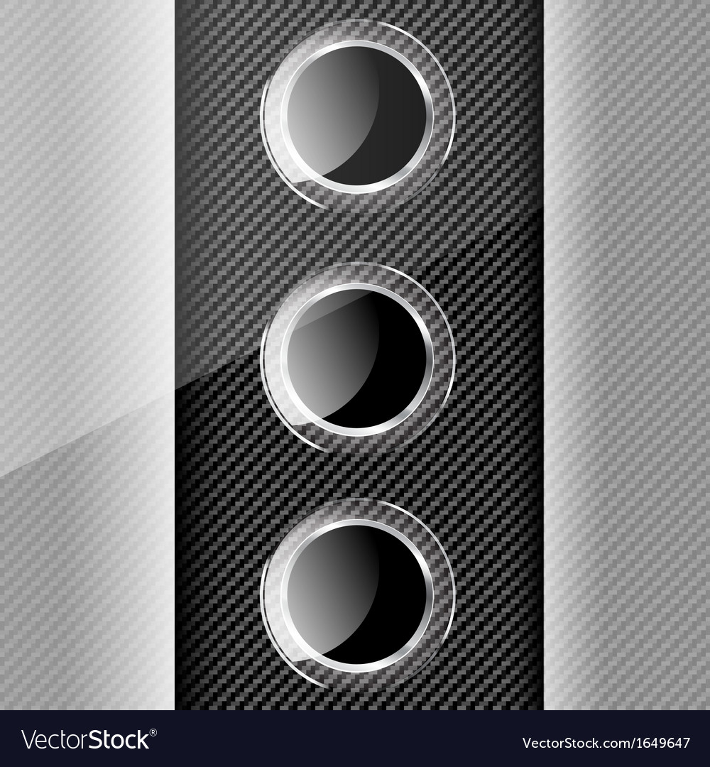 Bacground with carbon texture geometric elements vector | Price: 1 Credit (USD $1)