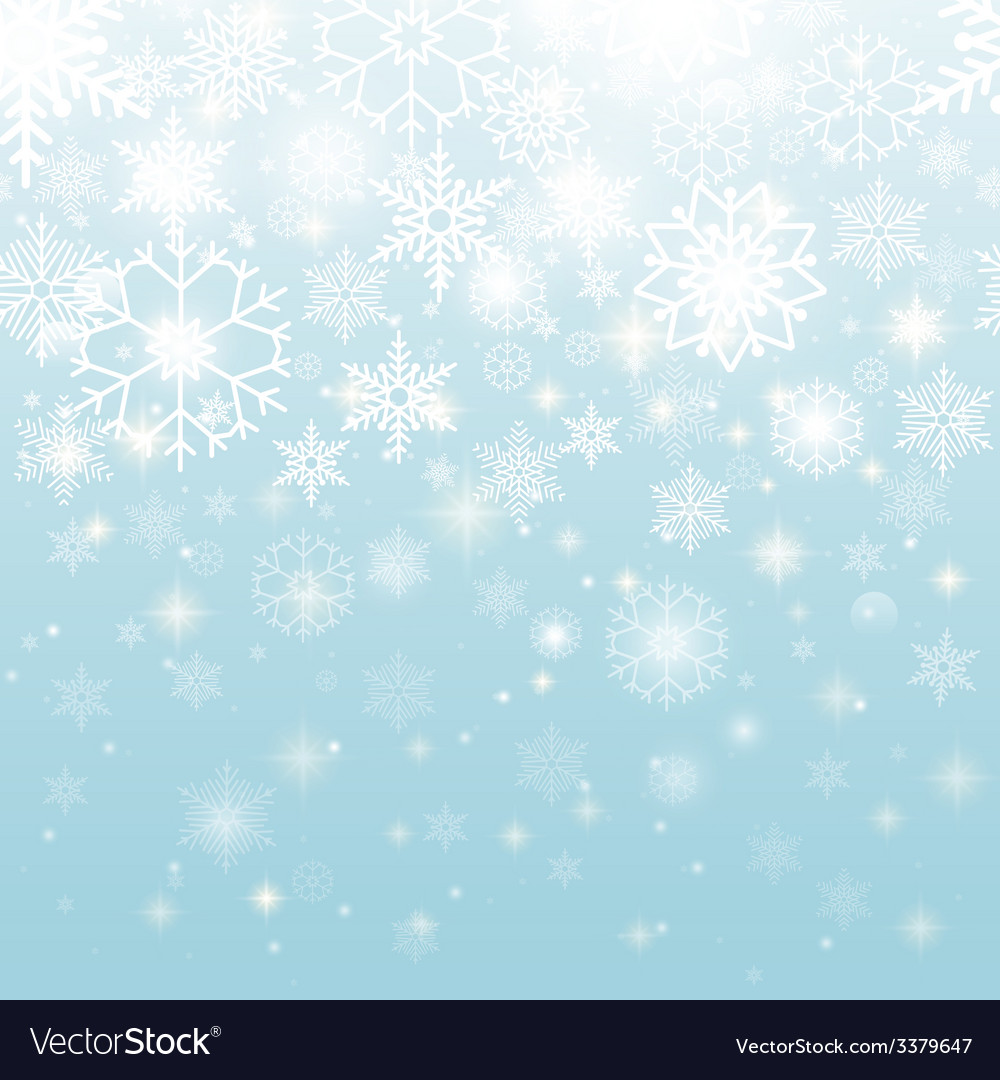 Beautiful snowflakes in seamless pattern design vector | Price: 1 Credit (USD $1)