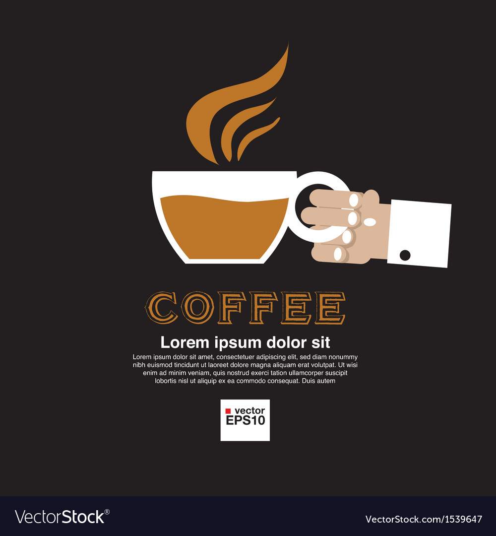 Coffee cup in hand vector | Price: 1 Credit (USD $1)
