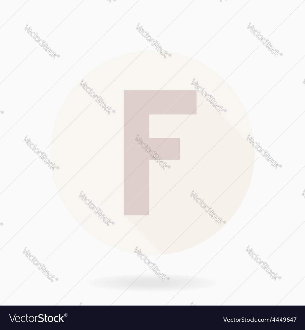 Fine flat icon with letter f vector | Price: 1 Credit (USD $1)