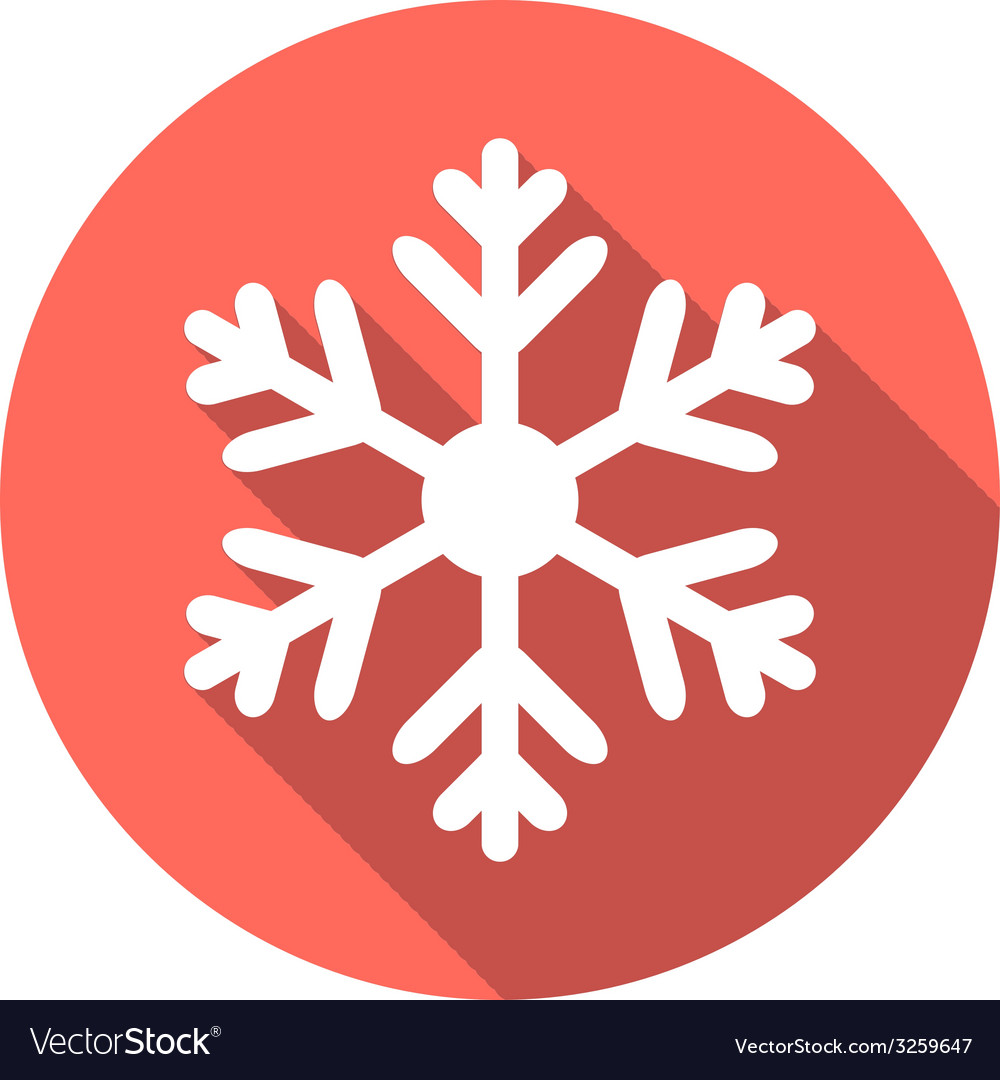 Flat colored simple winter snowflakes vector | Price: 1 Credit (USD $1)