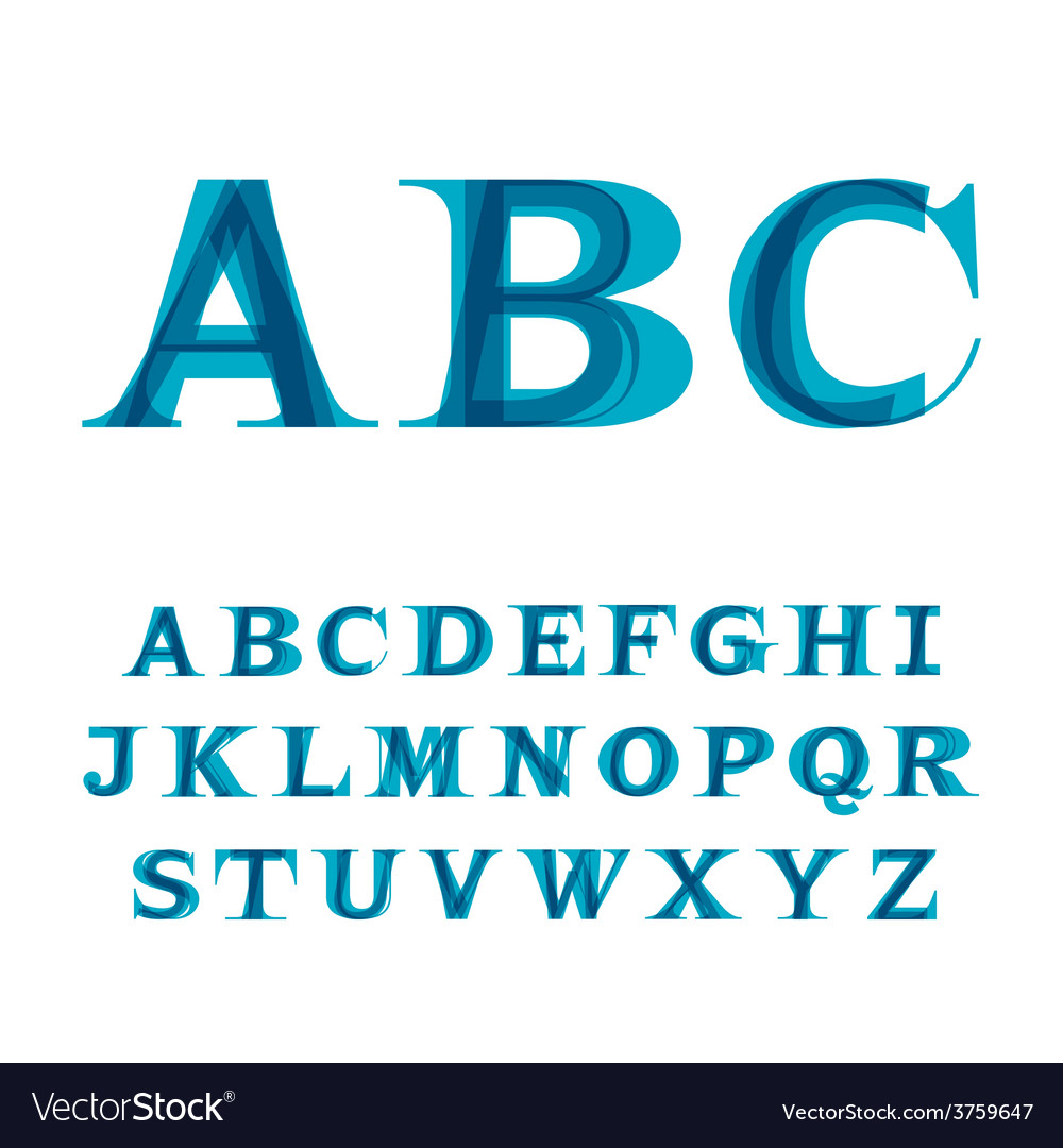Font consisting of three letters vector | Price: 1 Credit (USD $1)
