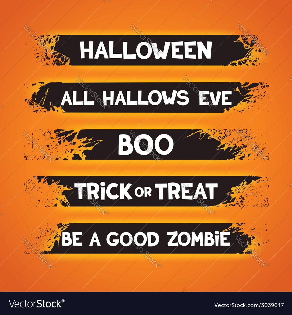 Halloween themed graffiti ribbons vector   Price: 1 Credit (USD $1)