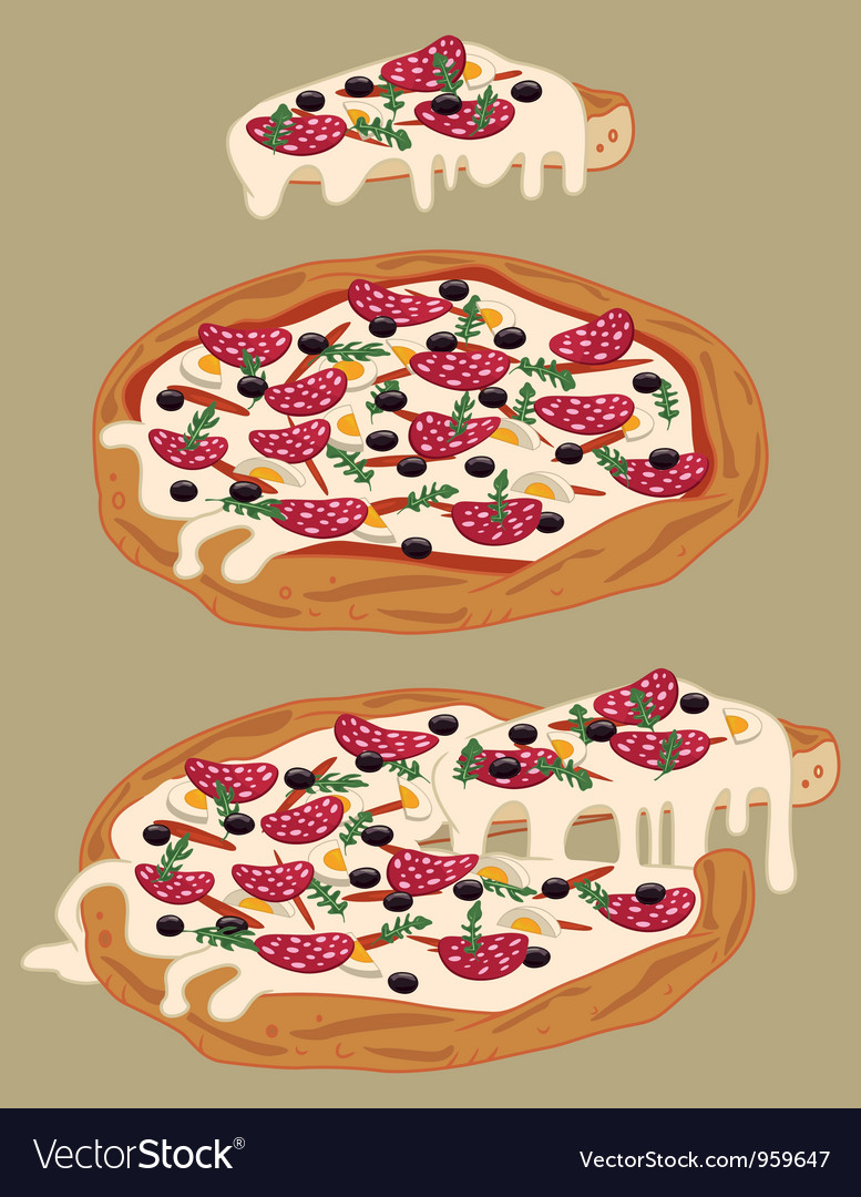 Italian handmade pizza vector | Price: 1 Credit (USD $1)
