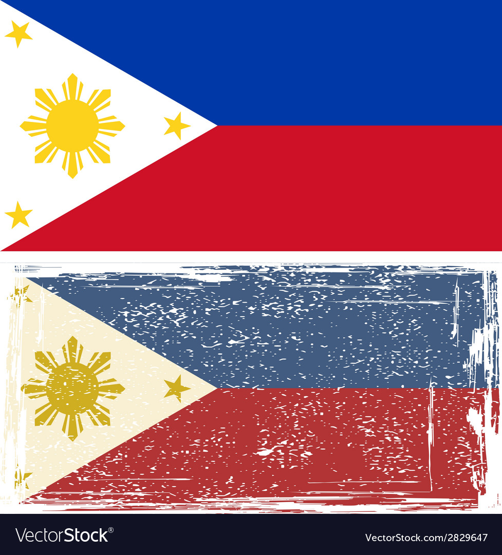 Philippines grunge flag  grunge effect can be vector | Price: 1 Credit (USD $1)