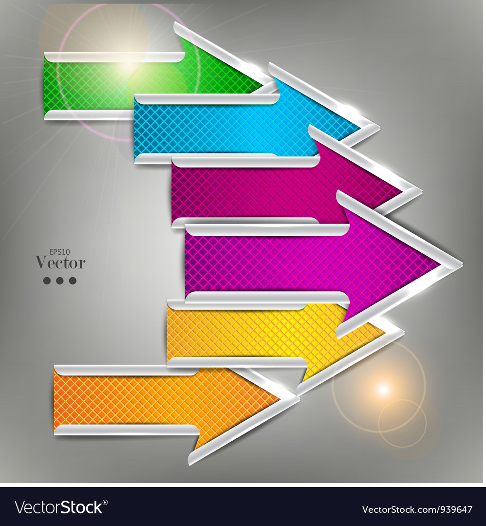 Set of colorful arrows website elements vector | Price: 1 Credit (USD $1)