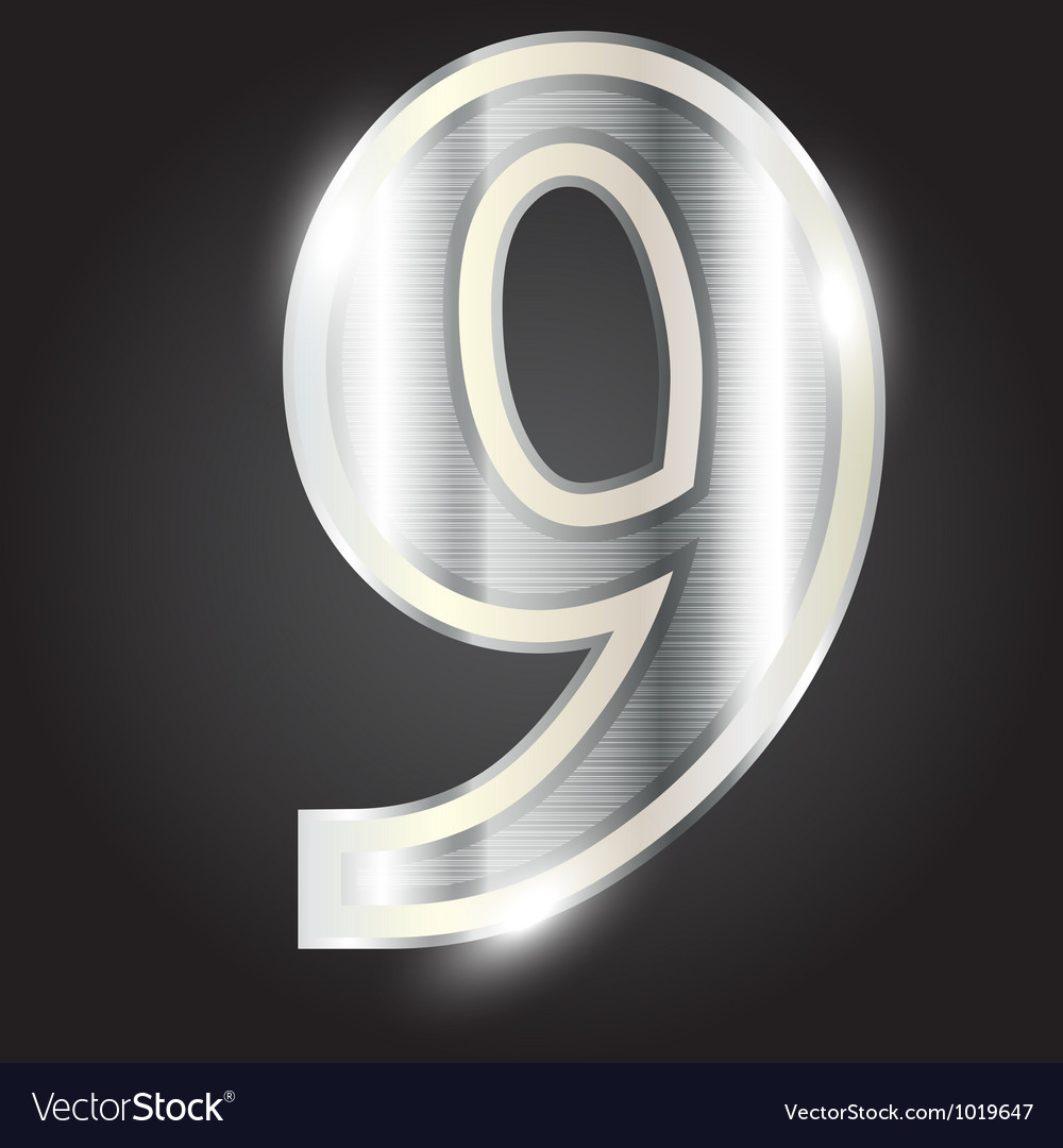 Silver metallic number vector | Price: 1 Credit (USD $1)