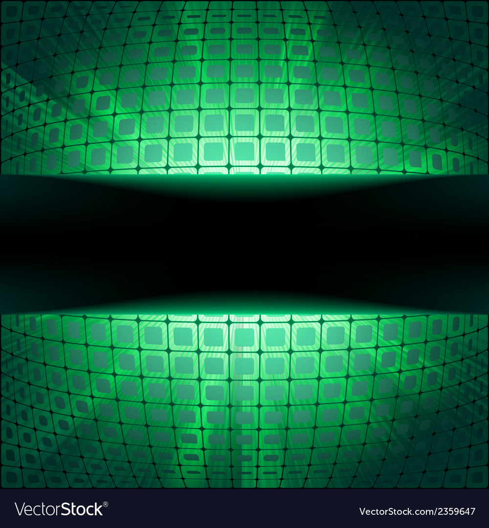 Sphere with green illumination eps 8 vector | Price: 1 Credit (USD $1)