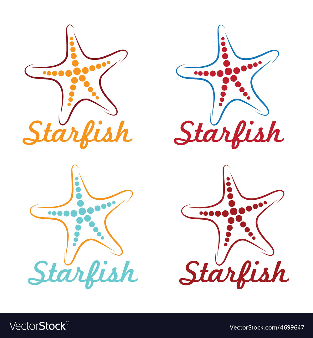 Starfish design template vector | Price: 1 Credit (USD $1)