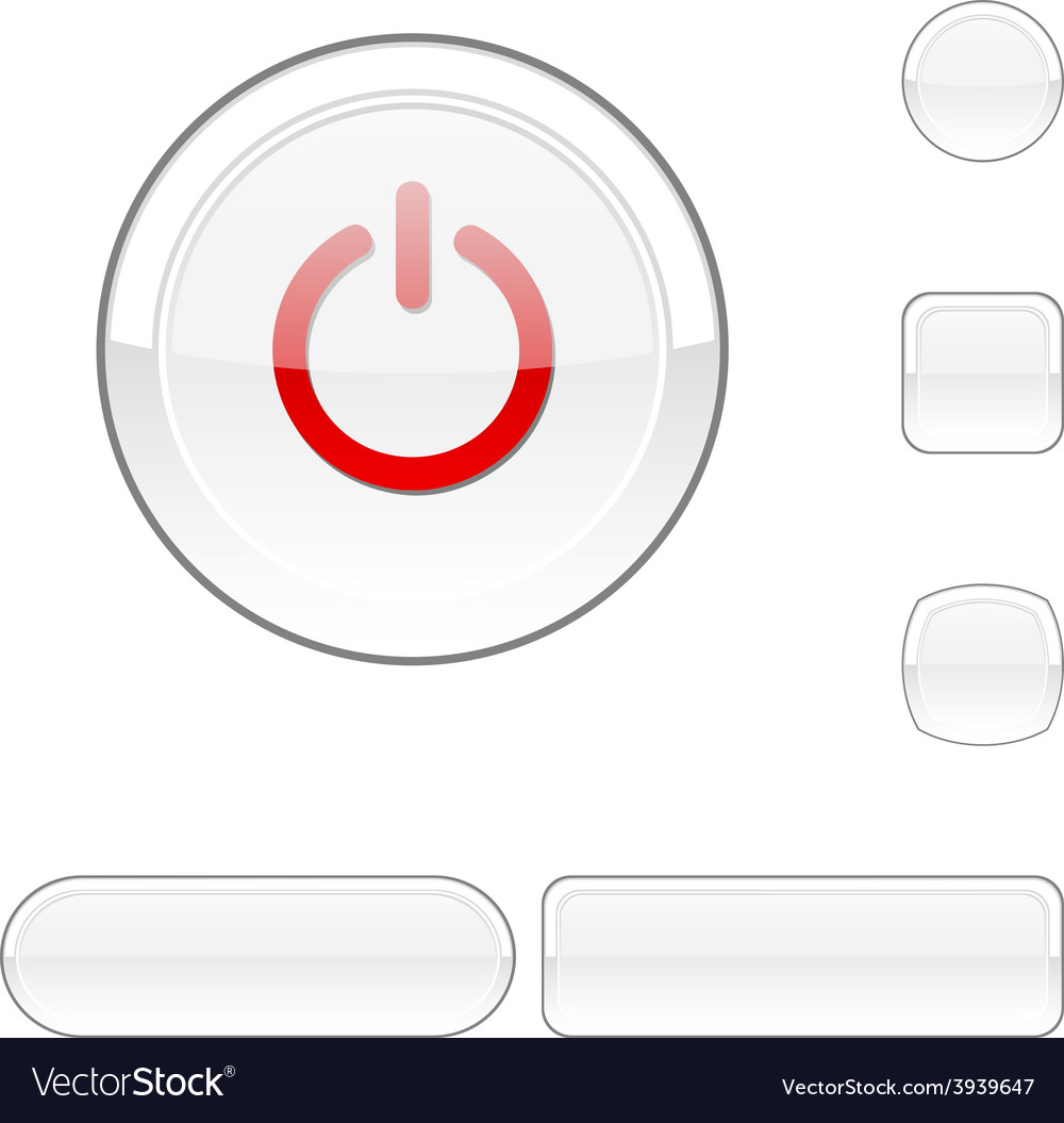 Switch white button vector | Price: 1 Credit (USD $1)