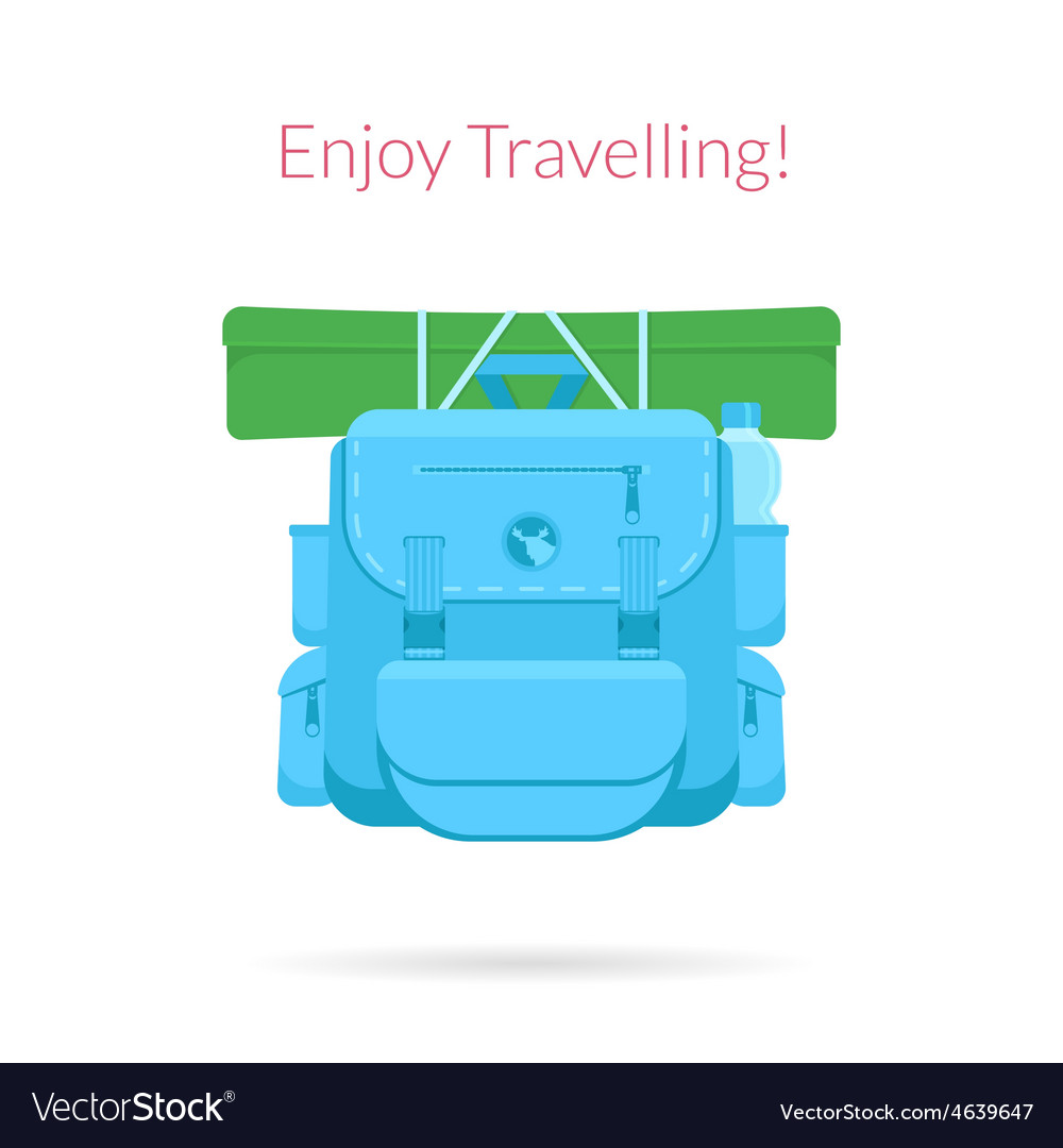 Travel blue bag vector | Price: 1 Credit (USD $1)