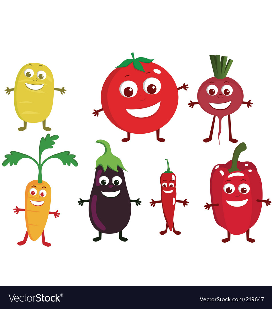 Vegetable cartoon vector | Price: 1 Credit (USD $1)