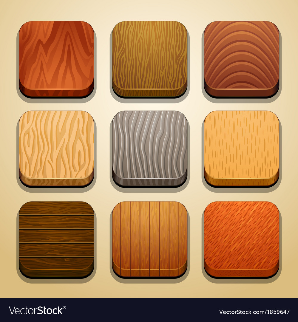 Wood background for the app icons-part 2 vector | Price: 1 Credit (USD $1)