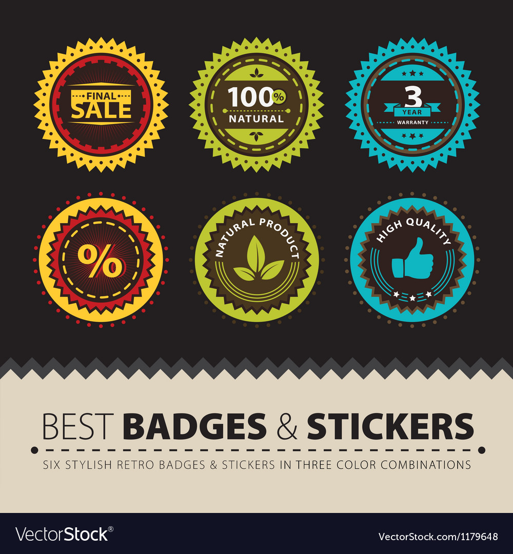 Badges and stickers vector | Price: 3 Credit (USD $3)
