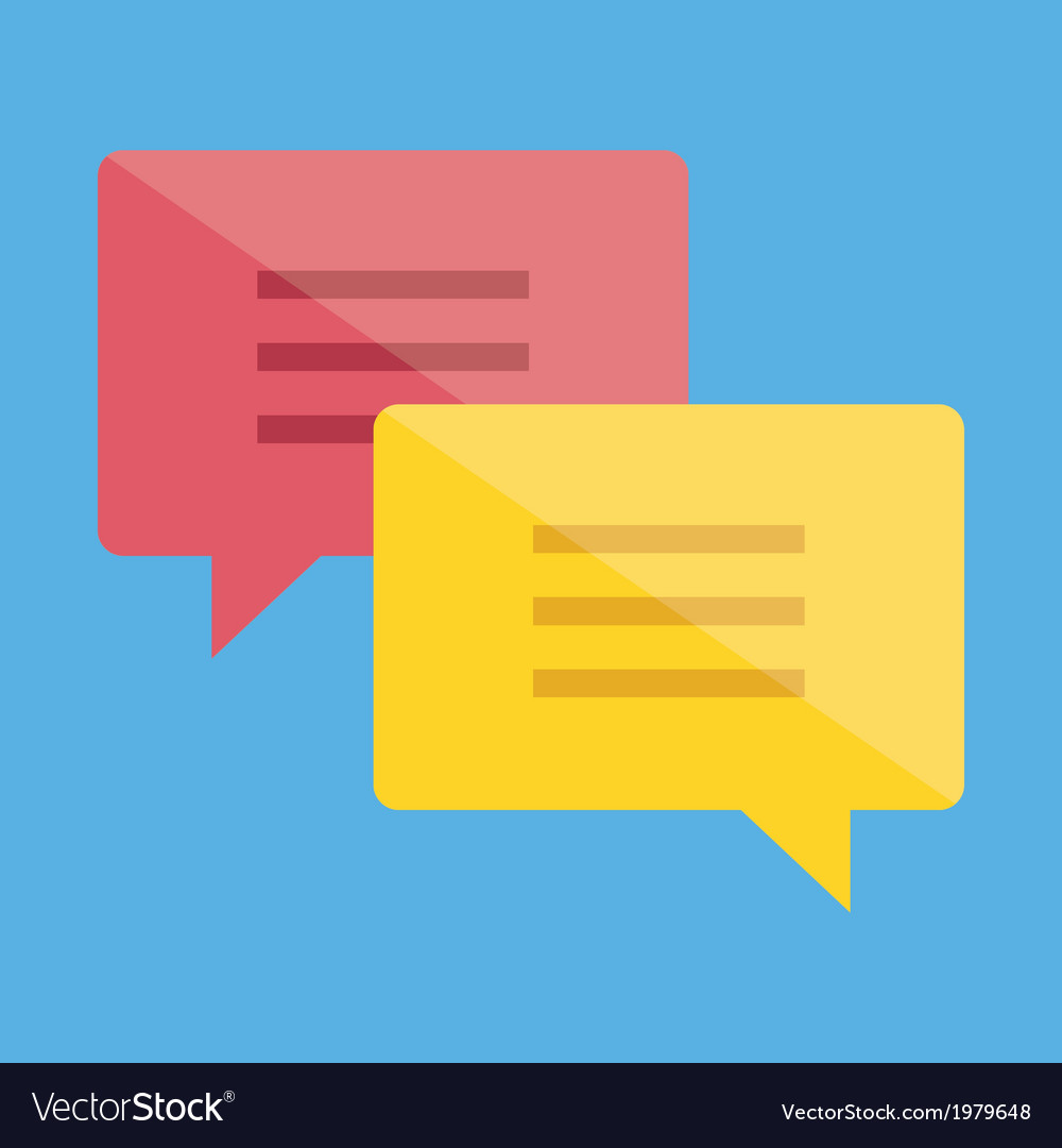 Chat icon 2 vector | Price: 1 Credit (USD $1)