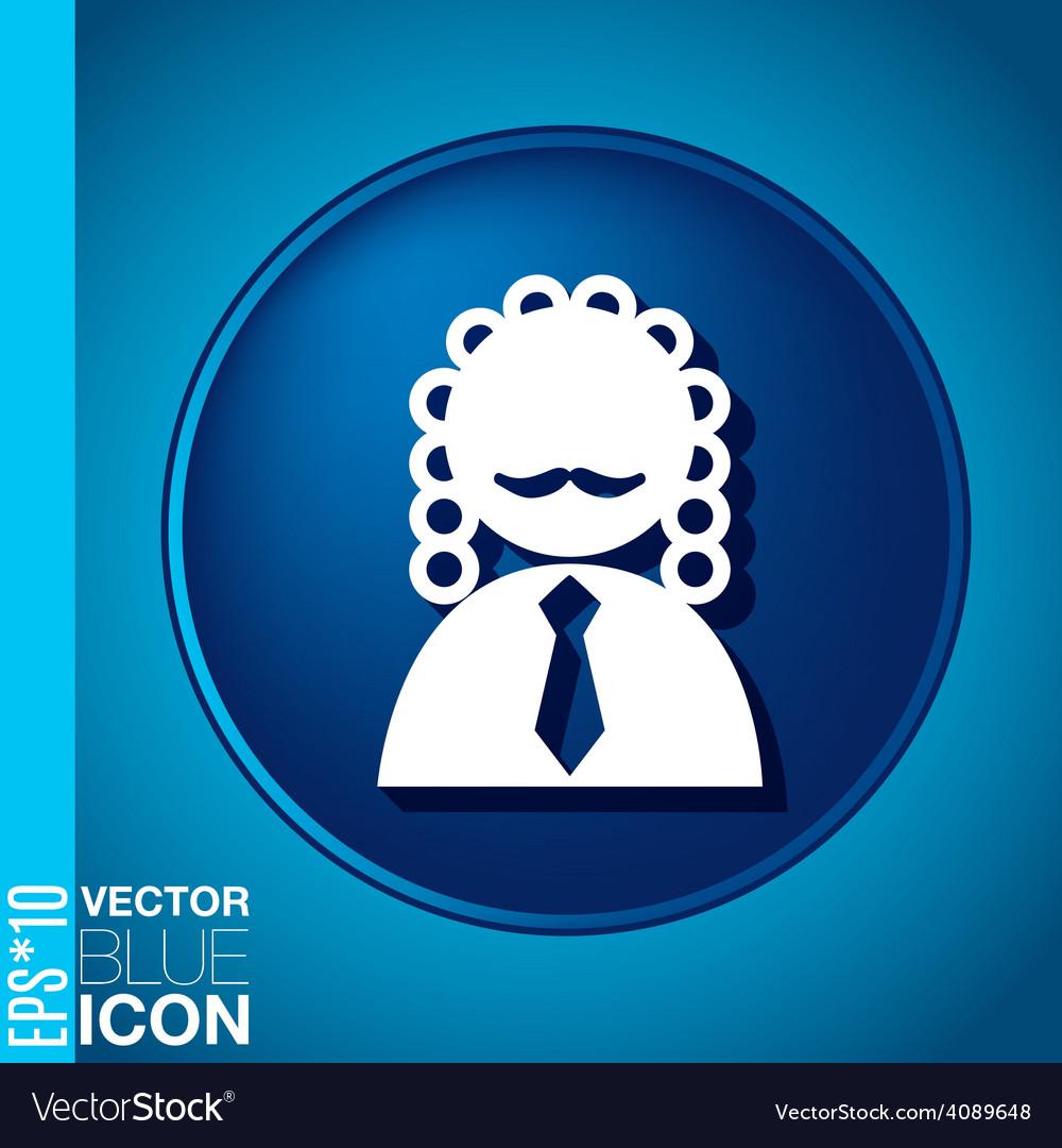 Icon avatar judge symbol of justice vector | Price: 1 Credit (USD $1)