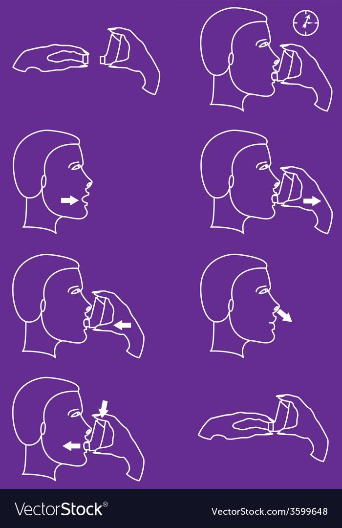 Inhaler for asthma vector   Price: 1 Credit (USD $1)