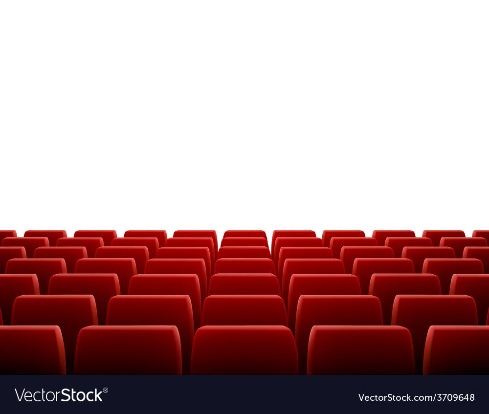 Row of seats in theatre vector | Price: 1 Credit (USD $1)