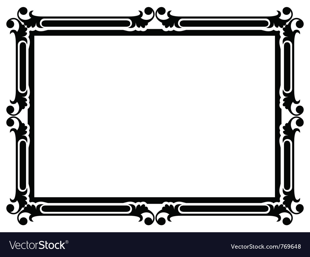 Simple decorative frame vector | Price: 1 Credit (USD $1)