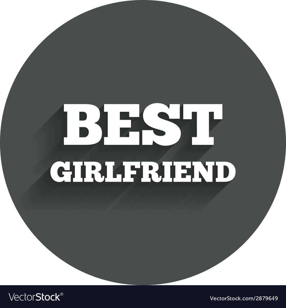 Best girlfriend sign icon award symbol vector | Price: 1 Credit (USD $1)