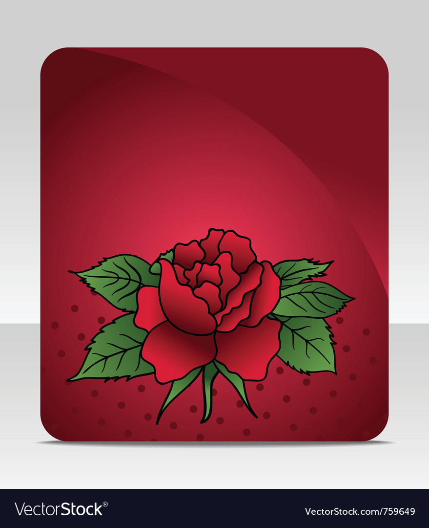 Celebration card with rose - vector | Price: 1 Credit (USD $1)