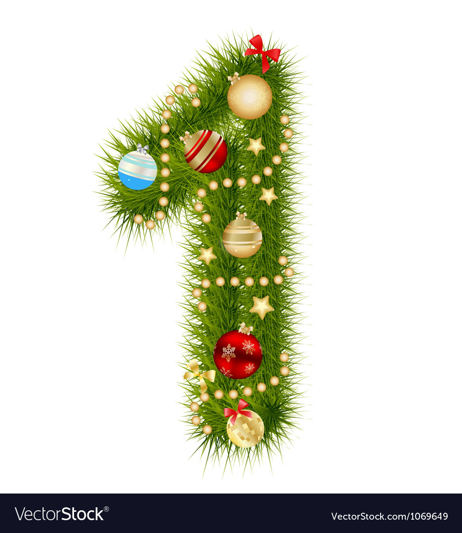 Christmas alphabet number vector   Price: 1 Credit (USD $1)