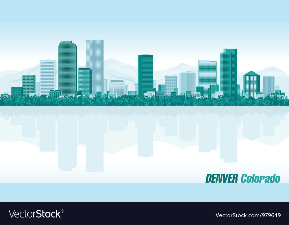 Denver colorado detailed skyline vector | Price: 1 Credit (USD $1)
