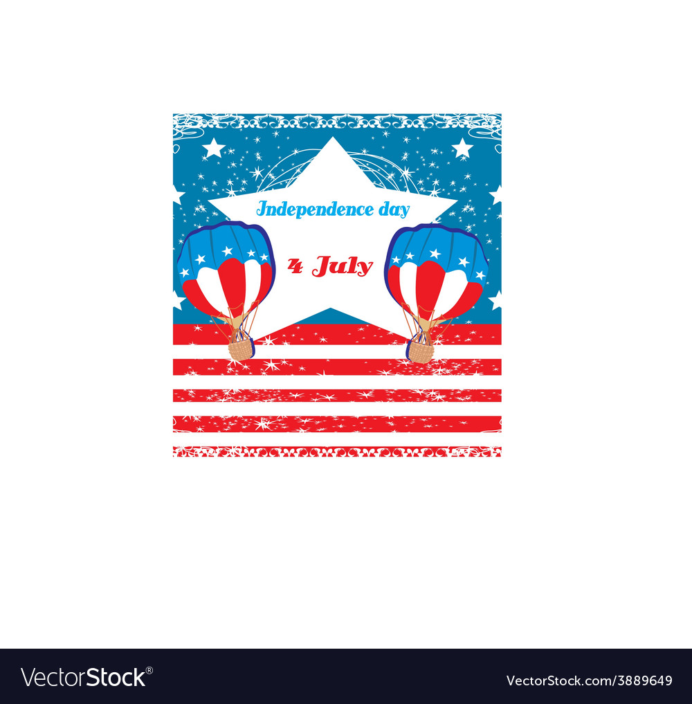 Hot air balloons of 4 of july vector | Price: 1 Credit (USD $1)